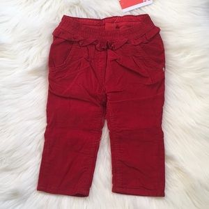 Baby Girls' Trousers Red 9 Months